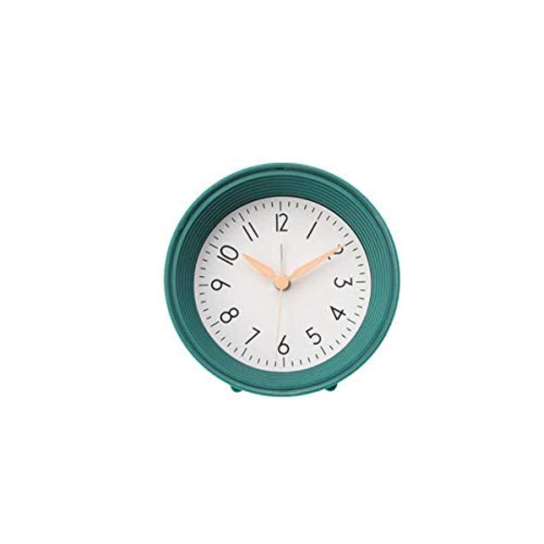 可塑性例示する最適Qiyuezhuangshi001 目覚まし時計、機械式ベルクロック、北欧スタイルのサイレントパット目覚まし時計、寝室のベッドサイドクロックに適し、ピンク、 材料の安全性 (Color : Green)