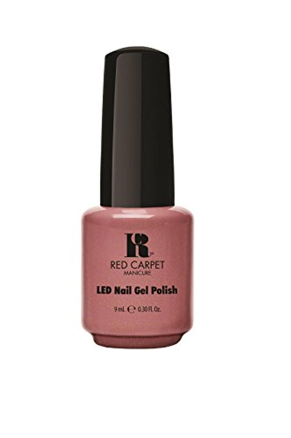 簿記係不愉快作りますRed Carpet Manicure - LED Nail Gel Polish - Class Act - 0.3oz/9ml