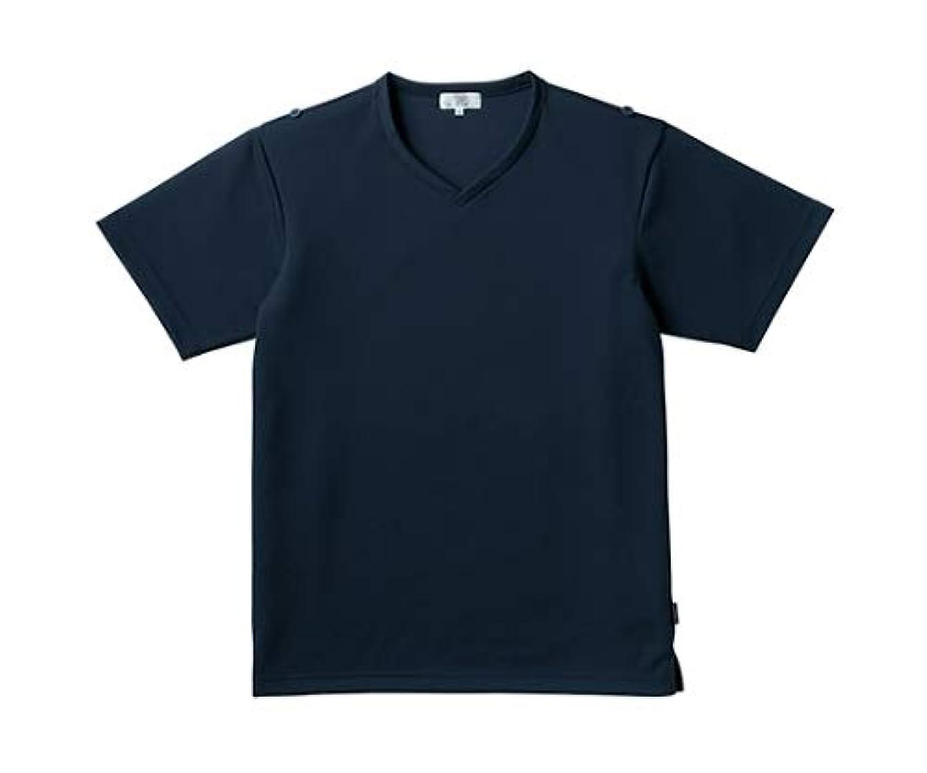 型無傷に対応するトンボ/KIRAKU 入浴介助用シャツ CR160 LL ネイビー