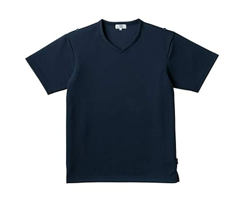 威信高い摂氏度トンボ/KIRAKU 入浴介助用シャツ CR160 L ネイビー