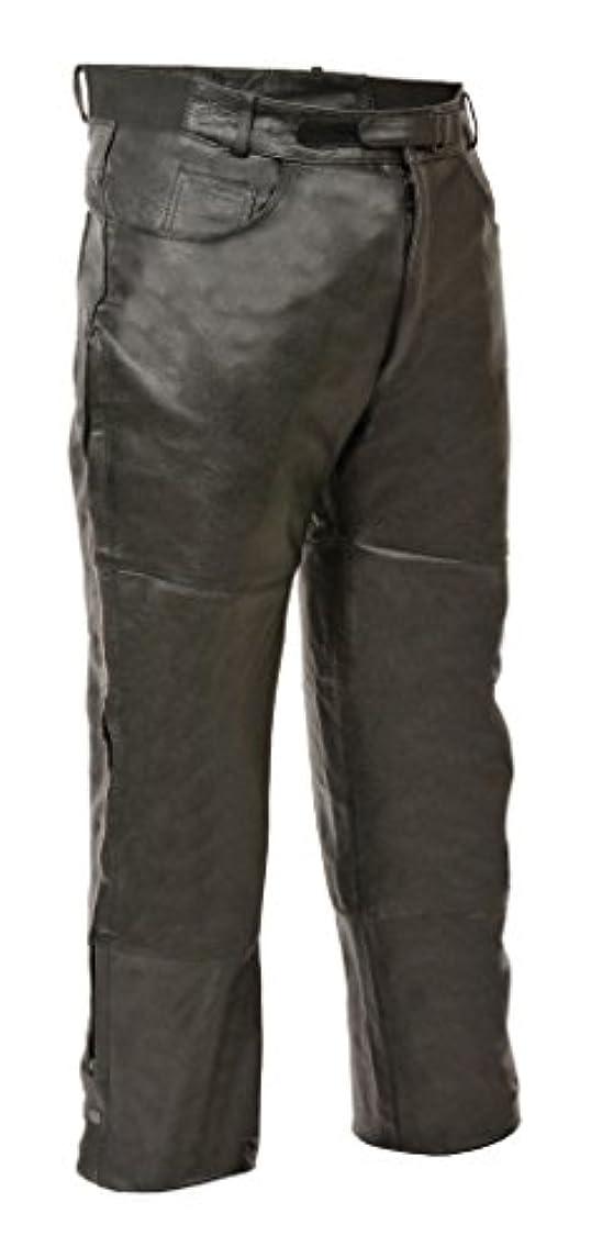 フリル枢機卿本土Milwaukeeレザーメンズ1.2 MMプレミアムレザーOverpant完全に Size 42 ブラック SH1150-BLK-42