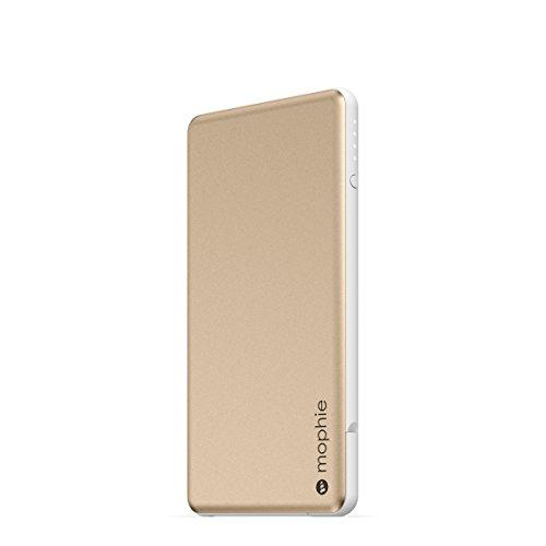 日本正規品・1年保証mophie powerstation plus mini (Lightning + Micro USBケーブル内蔵 最大2.1A出力 4,000mAh モバイルバッテリー) ゴールド MOP-BY-000114