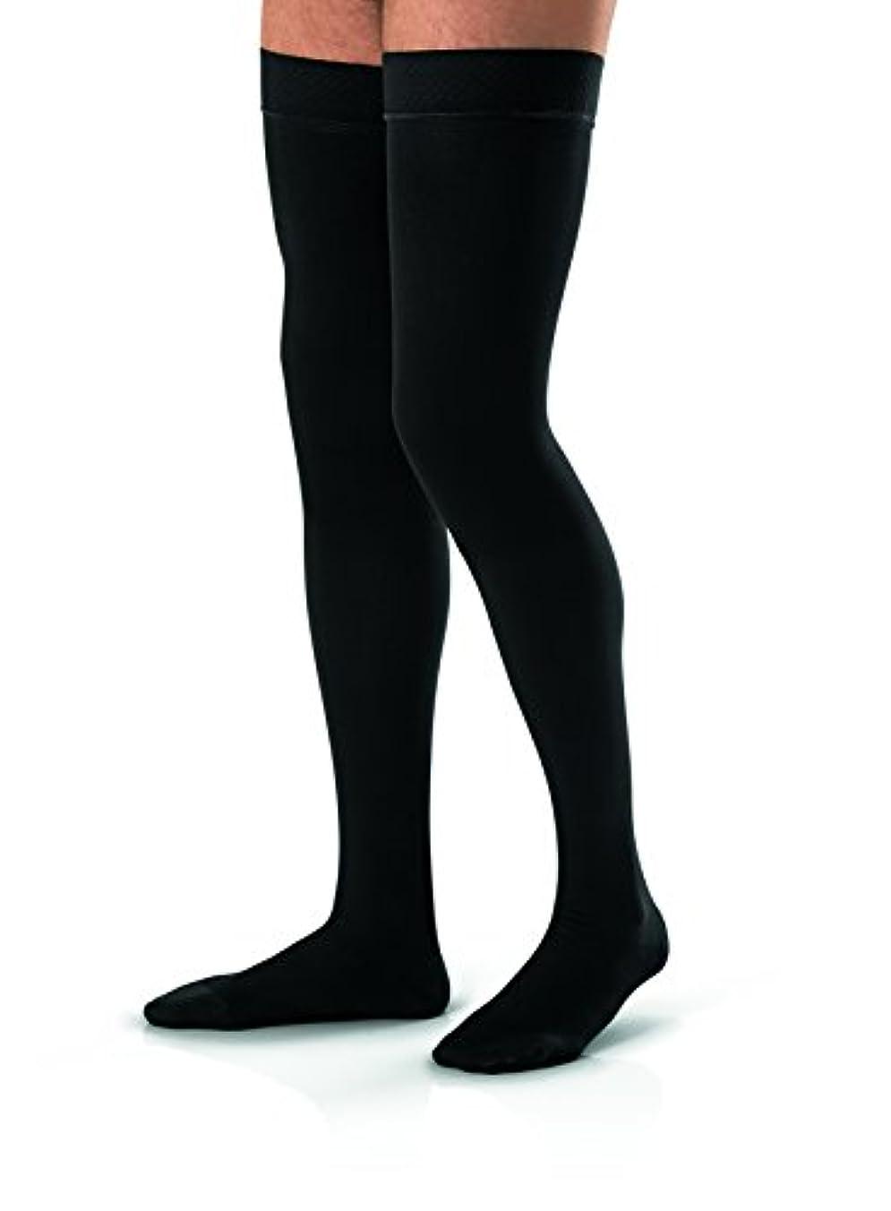 チャット簡略化する出版Men's 30-40 mmHg Closed Toe Thigh High Support Sock Size: Small, Color: Black by Jobst