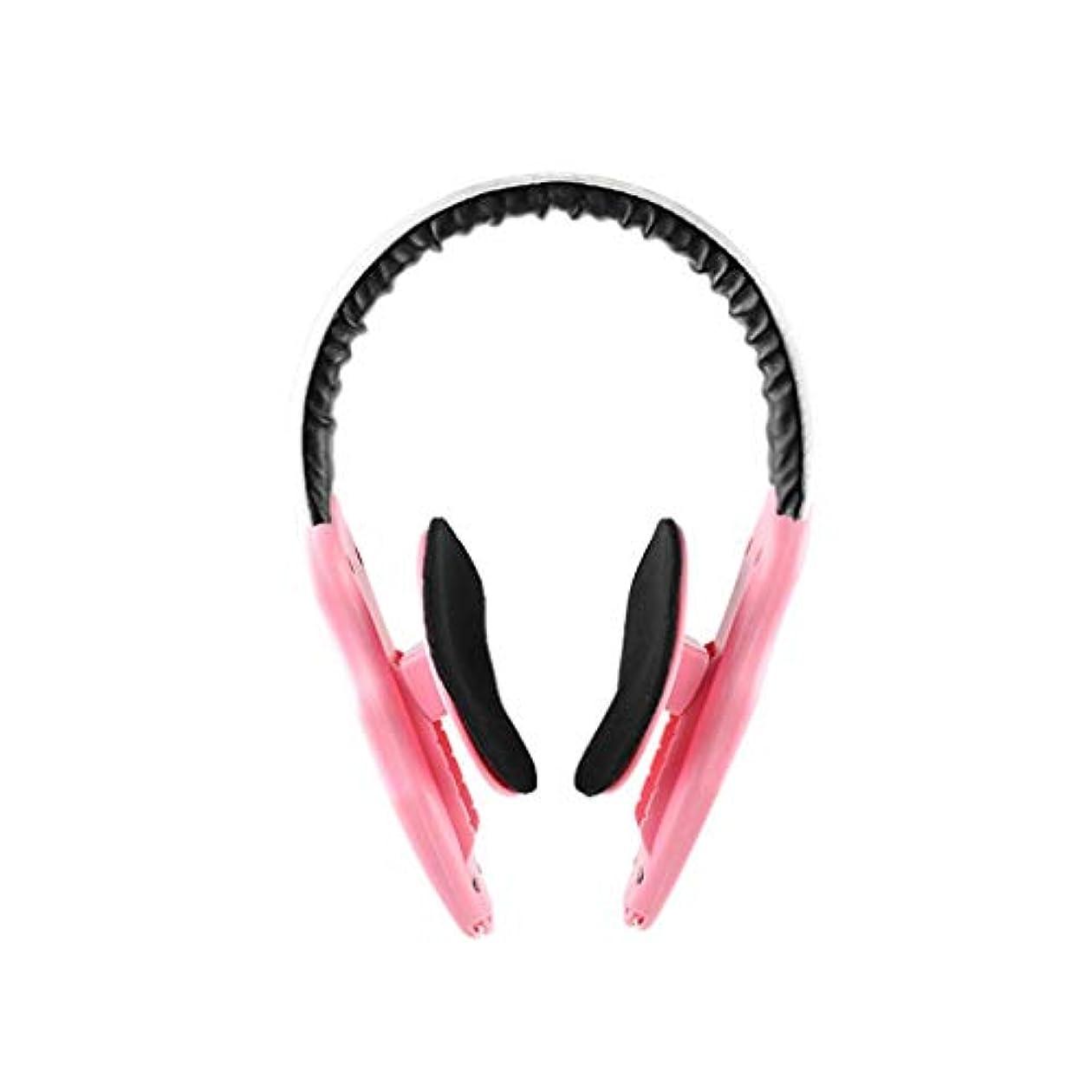 徒歩で陽気な貝殻LJK フェイスリフトマスク、フェイスブレース、非対称フェイスマッセターマッスル、フェイシャルラインの強化、フェイシャルファットの改善、男性に最適 (Color : Pink)