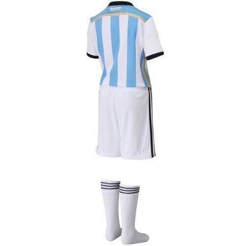 (アディダス) adidas アルゼンチン代表 ホーム ミニキット キッズ 100CM WHITE/BLUE