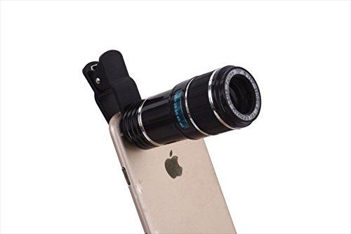 Centenarian Tooth® スマホカメラレンズ 望遠レンズ 12倍 クリップ式 簡単装着 挟みタイプ 対応 iPhone6 iPhone6 Plus iPhone5s iPad タブレットPC 等