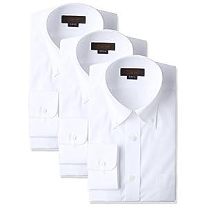 (スティングロード)STINGROAD(スティングロード) 形態安定加工ノーアイロン綿高率白長袖ボタンダウンドレスシャツ3枚セット MA1113-BD-3 シロ LL-84