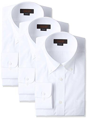 (スティングロード)STINGROAD(スティングロード) 形態安定加工ノーアイロン綿高率白長袖ボタンダウンドレスシャツ3枚セット MA1113-BD-3 シロ L-82