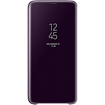 Galaxy S9+ (6.2インチ)用 Clear View Standing Cover 【Galaxy純正 国内正規品】 パープル EF-ZG965CVEGJP