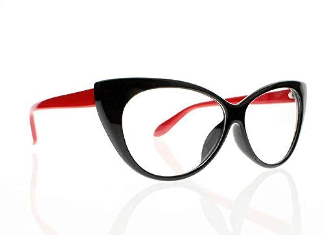 FidgetGear 女性レトロビンテージ猫目亀9色老眼鏡リーダー+ 1.0?+ 4.0 赤