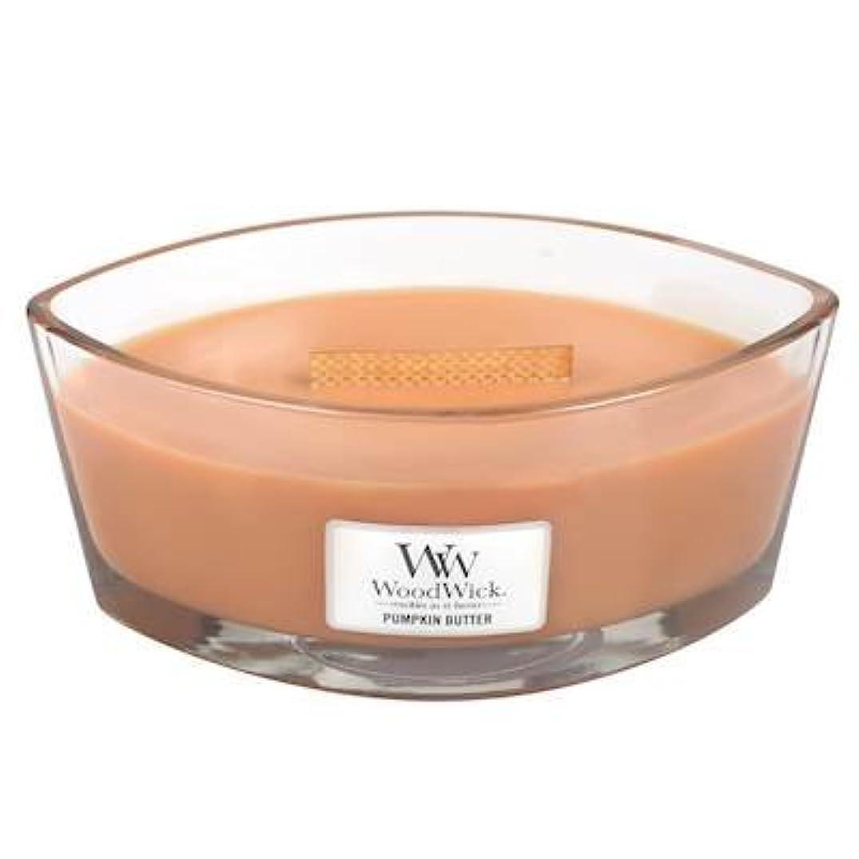 奇跡乞食製品Woodwick PumpkinバターHearthWick Flame Large Scented Candle