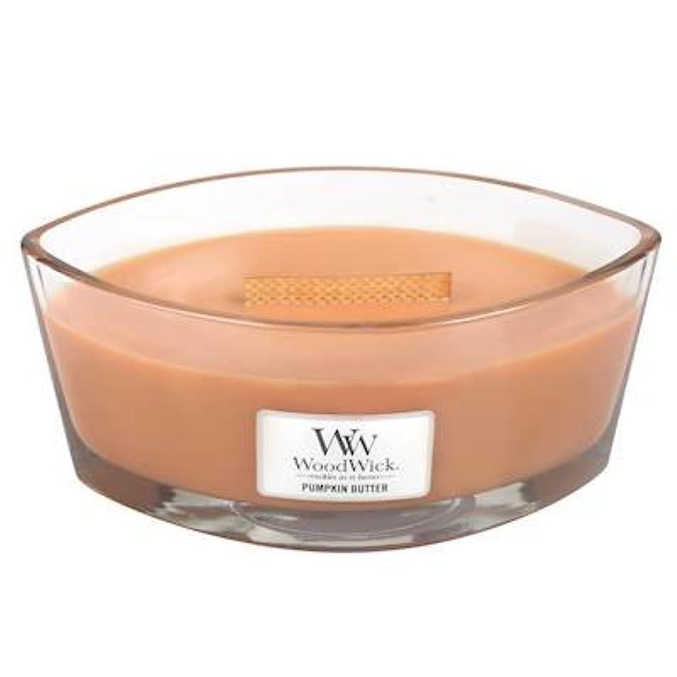 こする混合速度Woodwick PumpkinバターHearthWick Flame Large Scented Candle
