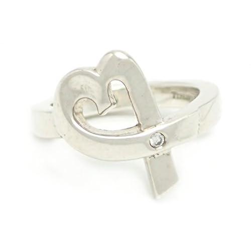 [ティファニー] TIFFANY&Co. ラビングハート リング 指輪 シルバー SV925 ダイヤ #8
