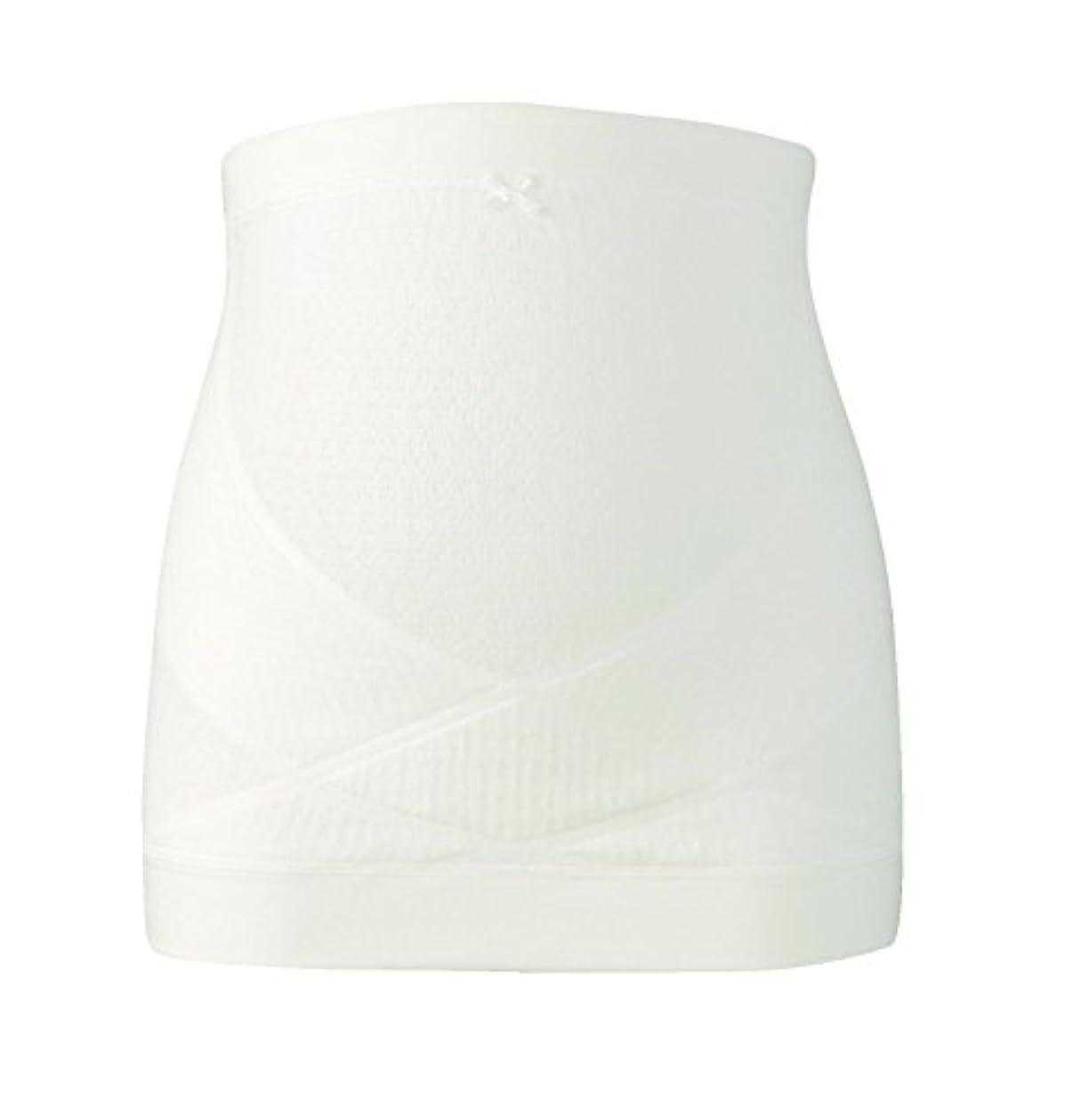 草種優しいワコール (Wacoal) マタニティ 妊婦帯 腹巻きタイプ (日本製) 産前 妊娠初期から臨月まで使える 腹帯 [ ギフトケース入り ] M アイボリー MRP476 IV