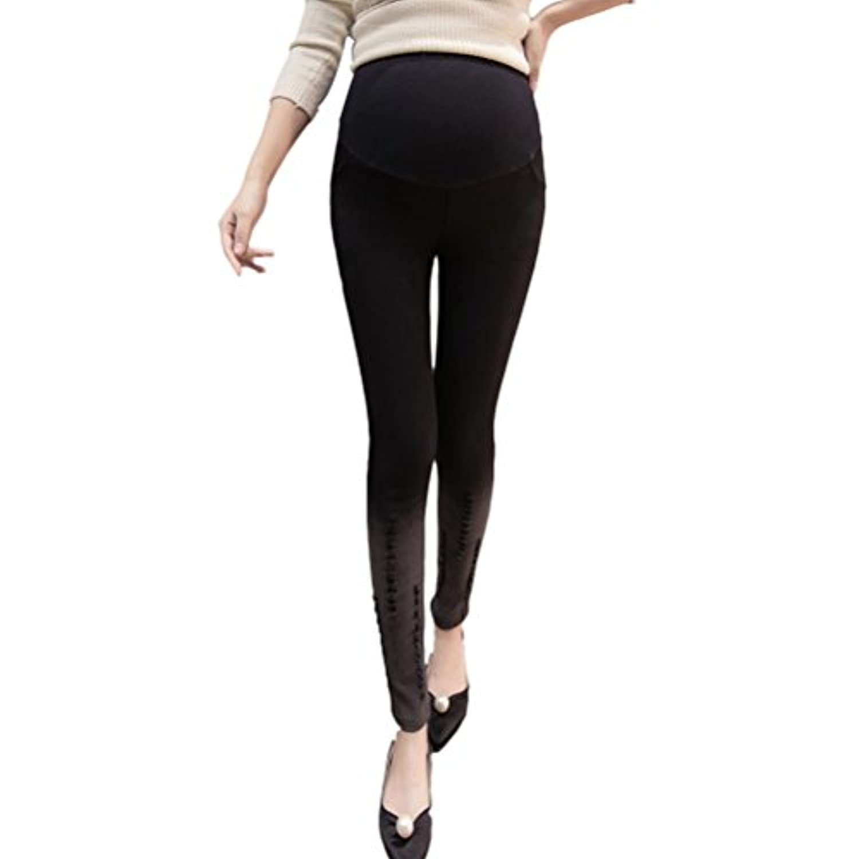 Zhhlinyuan Fashion Maternity Winter Plus Velvet Pencil パンツ Trousers Pregnancy パンツ Leggings