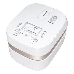 東芝 真空圧力IHジャー炊飯器(5.5合炊き) グランホワイトTOSHIBA 備長炭かまど本羽釜 RC-10ZPK-W