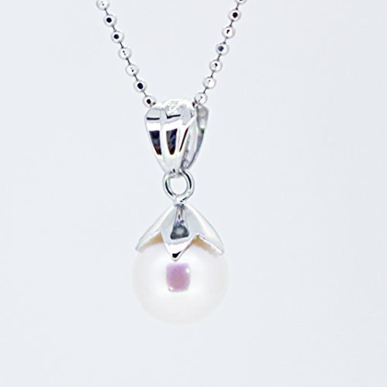 【KASHIMA】シルバー925 7mm あこや本真珠 パール? ペンダント ネックレス