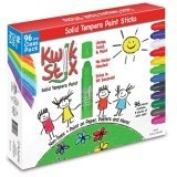 The Pencil Grip Kwik Stix Solid Tempera Paint Assorted Colors Set of 96 [並行輸入品]