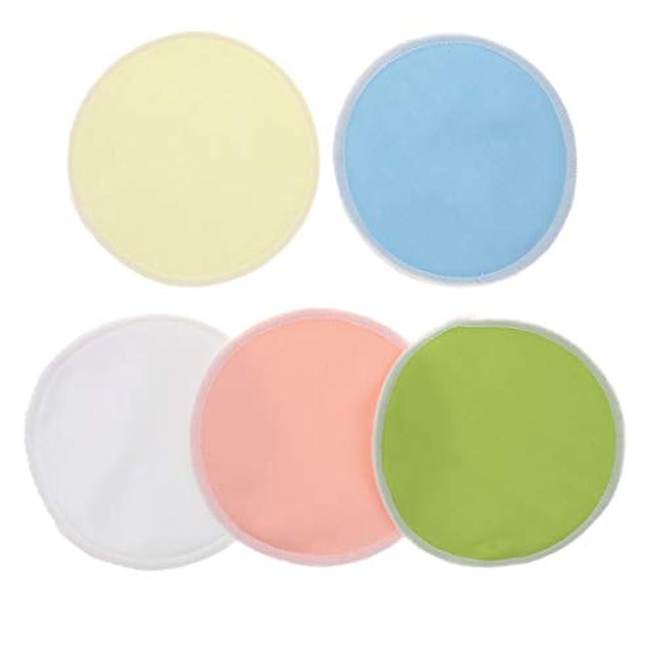 チャップ是正する許可するメイク落としコットン 胸パッド 竹繊維 クレンジングシート メイクアップ 洗濯可能 5個 全2タイプ - 01