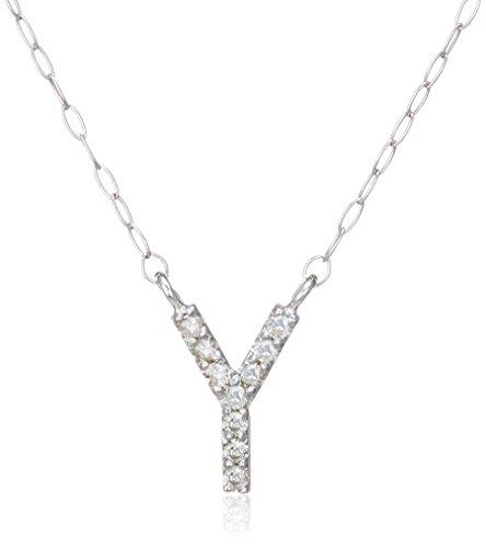 [シノハラ] shinohara K18WGイニシャルダイヤモンドペンダントY 計0.05ct 133433