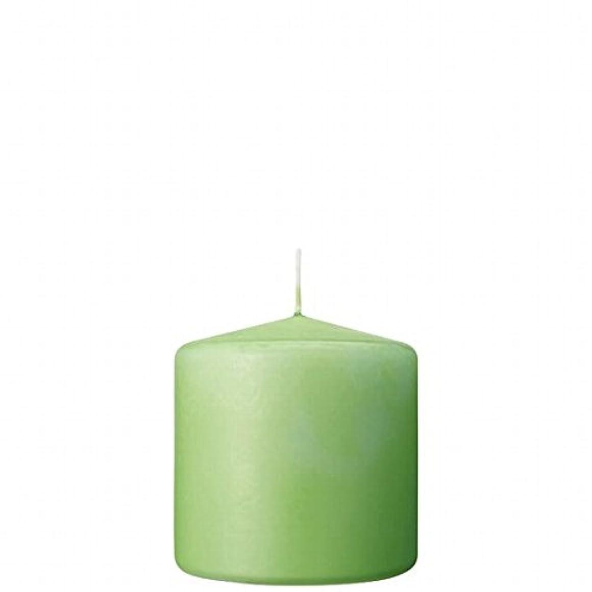 閉じる頑丈スパイラルカメヤマキャンドル(kameyama candle) 3×3ベルトップピラーキャンドル 「 ライム 」