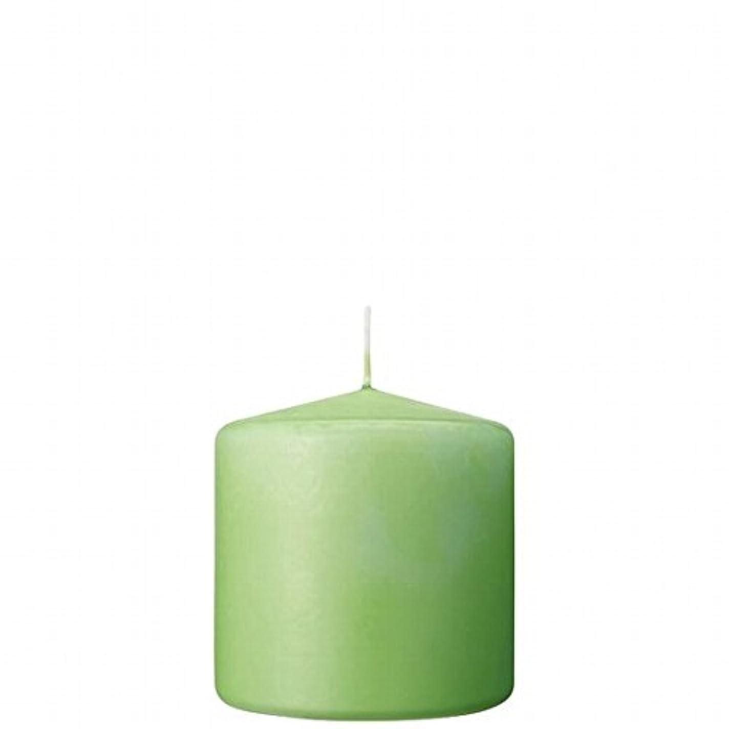 左発信引っ張るカメヤマキャンドル(kameyama candle) 3×3ベルトップピラーキャンドル 「 ライム 」