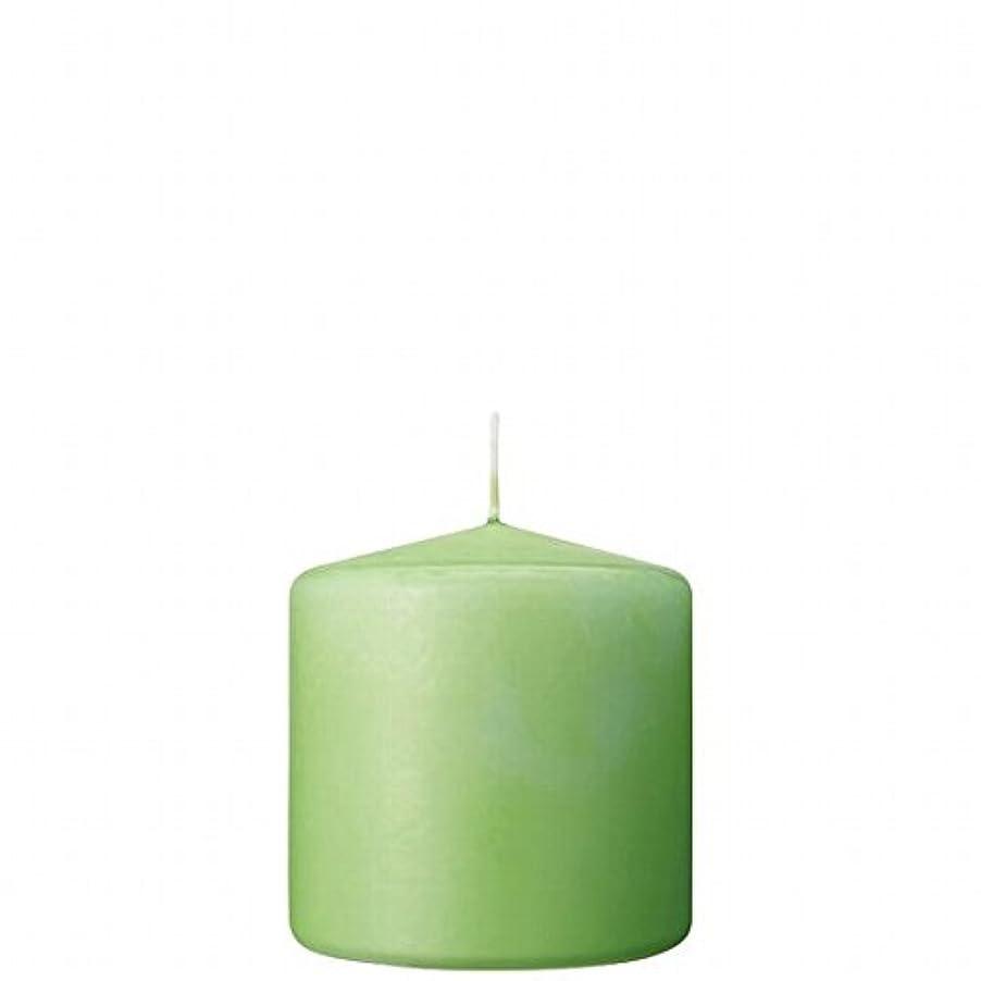 有彩色の確保する刺激するカメヤマキャンドル(kameyama candle) 3×3ベルトップピラーキャンドル 「 ライム 」