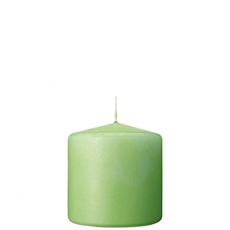 黒人楽観的いつでもカメヤマキャンドル(kameyama candle) 3×3ベルトップピラーキャンドル 「 ライム 」
