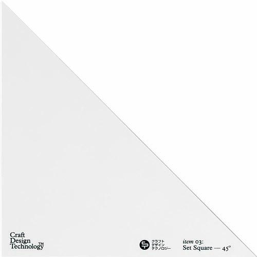 クラフトデザインテクロノジー 三角定規セット 直角+二等辺の...
