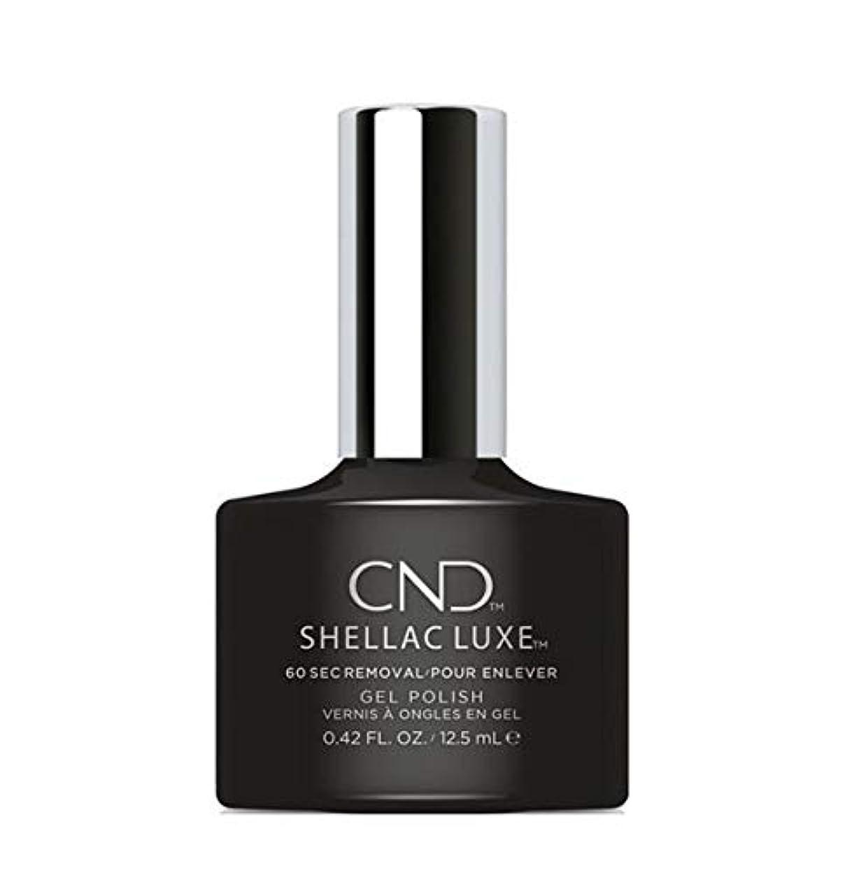 克服するポケット雰囲気CND Shellac Luxe - Black Pool - 12.5 ml / 0.42 oz