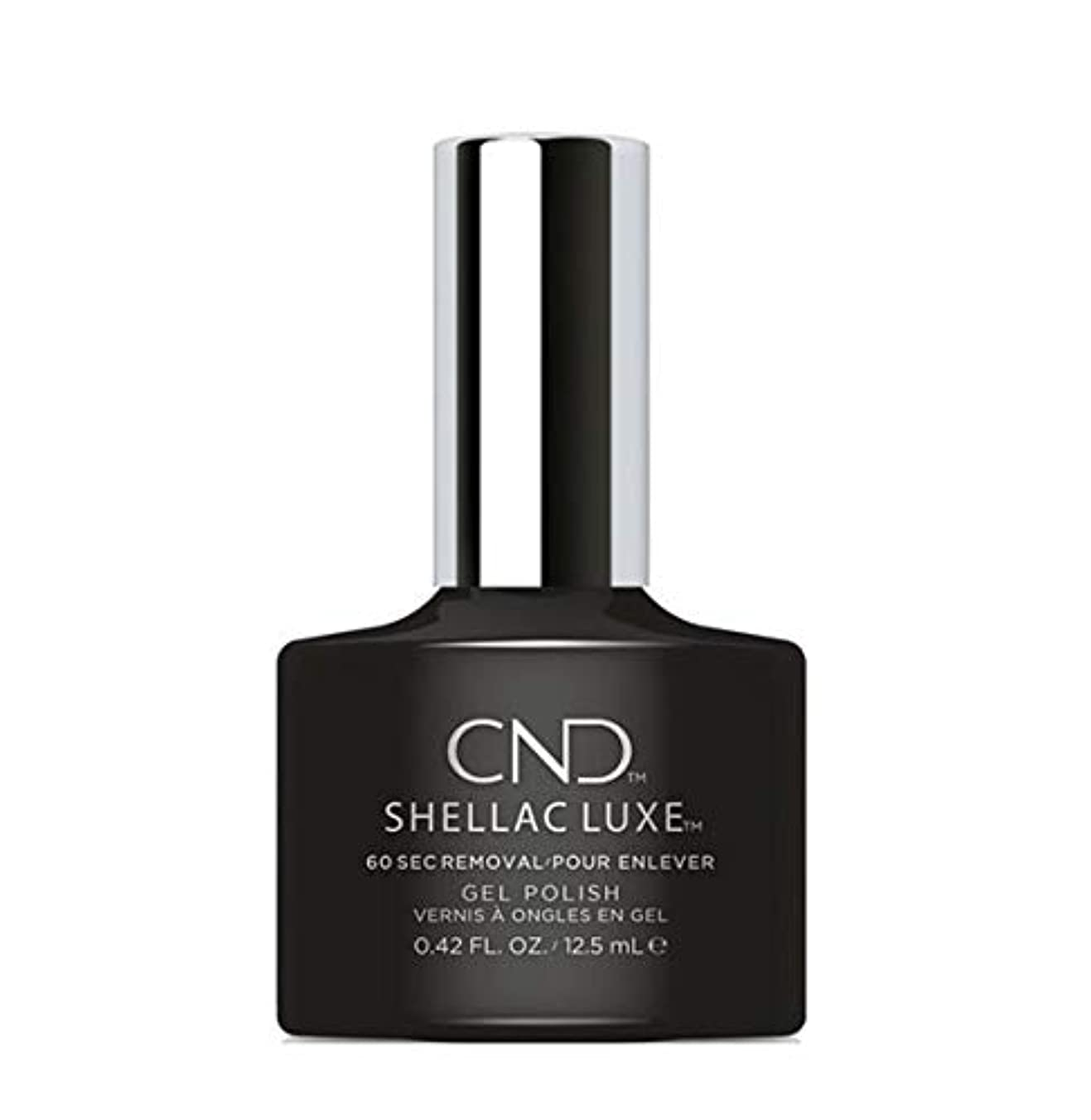 独特の高音それにもかかわらずCND Shellac Luxe - Black Pool - 12.5 ml / 0.42 oz