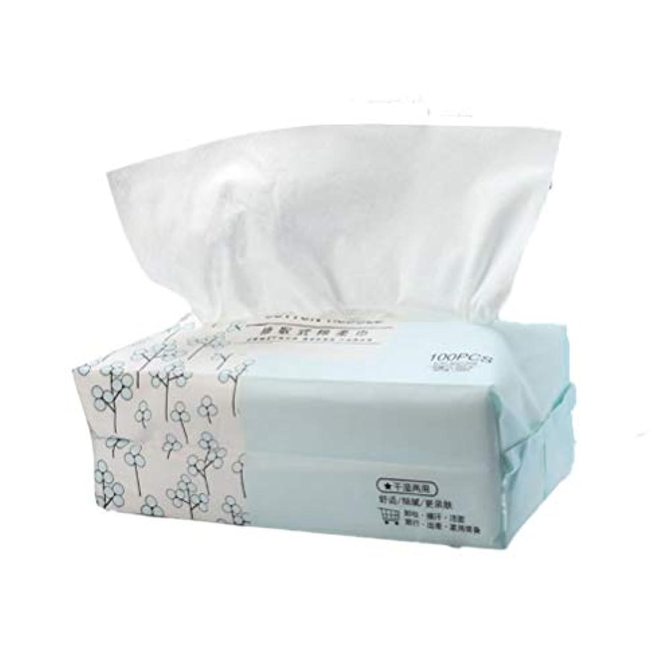 アブセイ初期の後ろにLurrose 化粧品の綿のパッドを洗うための100個の使い捨てタオルは、フェイスタオルを拭く拭き取りを構成します