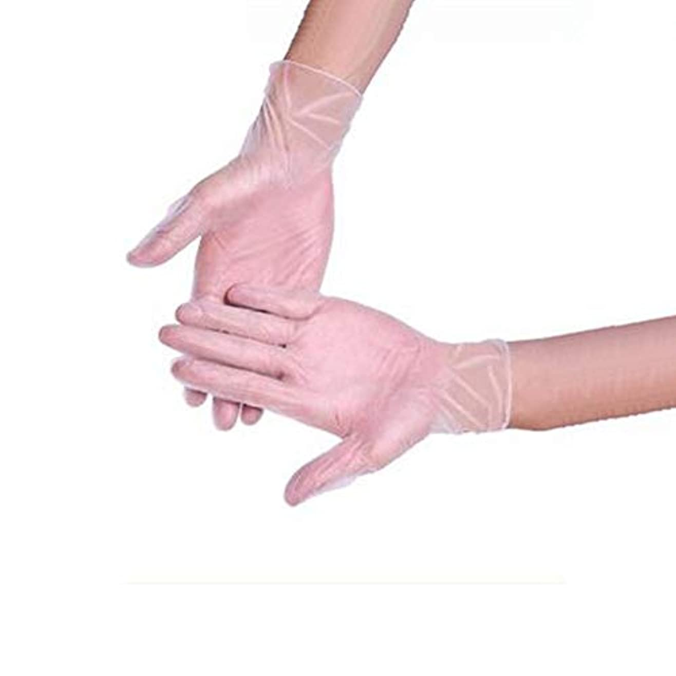 ゴールデン優雅なと遊ぶ食品ベーキング手袋美容ネイル使い捨て手袋クリーニング帯電防止手袋箱入り500のみ YANW (色 : トランスペアレント, サイズ さいず : Xl xl)