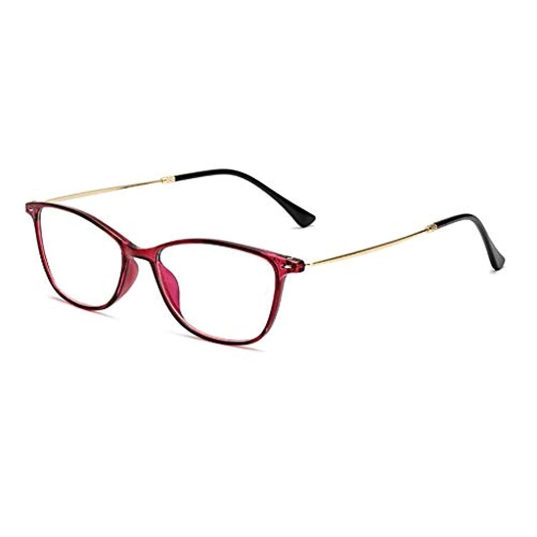 ネブ司書前置詞男性用および女性用の樹脂製アンチブルーライト放射ガラス、スタイリッシュな超高精細老眼鏡、虫眼鏡リーダー(Hawksbill、パープルレッド、ブラック)