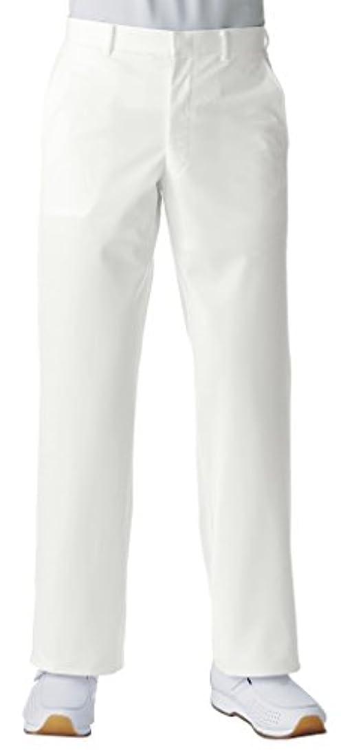 合わせて復活する許す医療/介護ユニフォーム メンズスラックス KAZEN アプロン ホワイト 259-10 W79