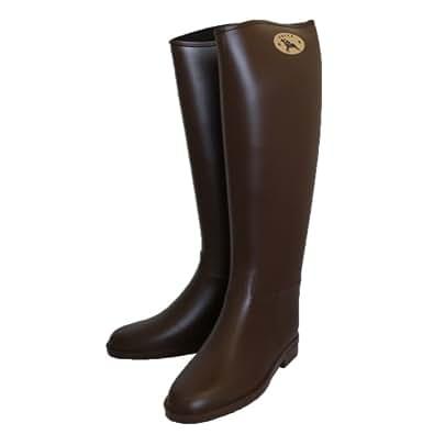 Dafna ダフナ Winner Zipper With logo Boots ウィナージッパー ロゴ有【並行輸入品】 (36(約23cm), ブラウン)