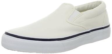 Striper Slip-On Sneaker: White