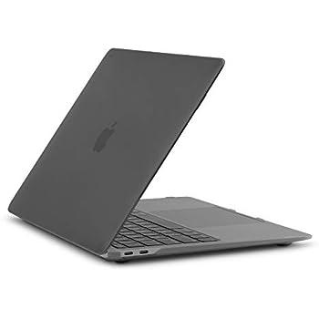 Moshi iGlaze ハードシェルケース 13インチ MacBook Air (Thunderbolt 3/USB-C) 用 ハードケースシェルカバー 傷防止 取り付け取り外し簡単 熱放散性 ブラック