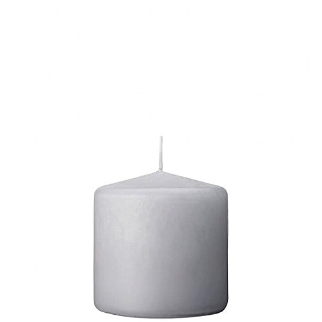 テンポ名誉ある耕すカメヤマキャンドル(kameyama candle) 3×3ベルトップピラーキャンドル 「 ライトグレー 」