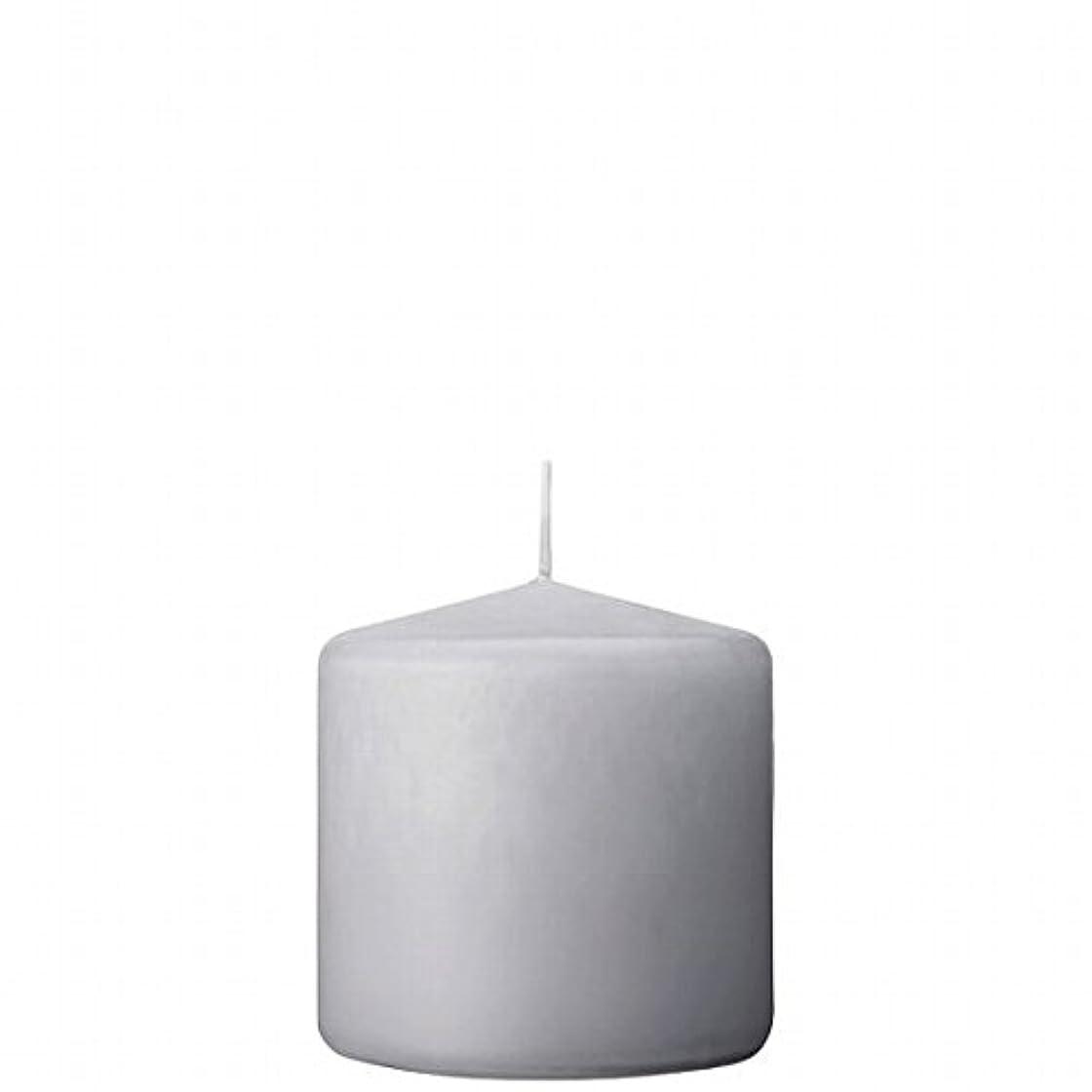 マッサージ毎回スチュワーデスカメヤマキャンドル(kameyama candle) 3×3ベルトップピラーキャンドル 「 ライトグレー 」