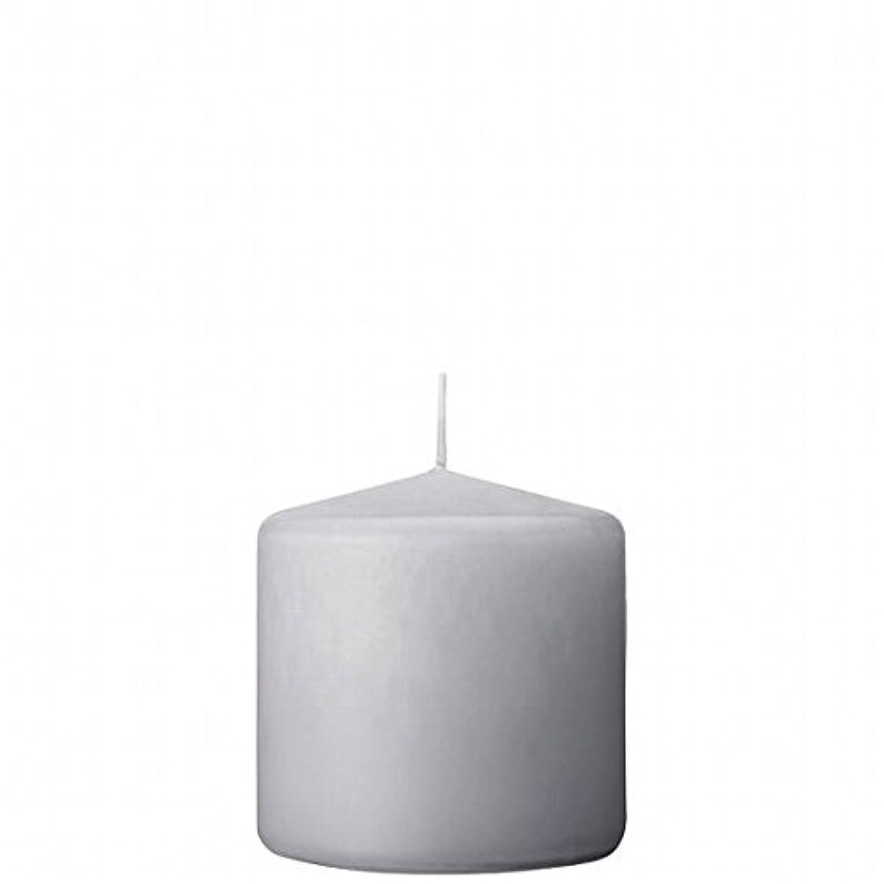 と遊ぶ印象的な母性カメヤマキャンドル(kameyama candle) 3×3ベルトップピラーキャンドル 「 ライトグレー 」