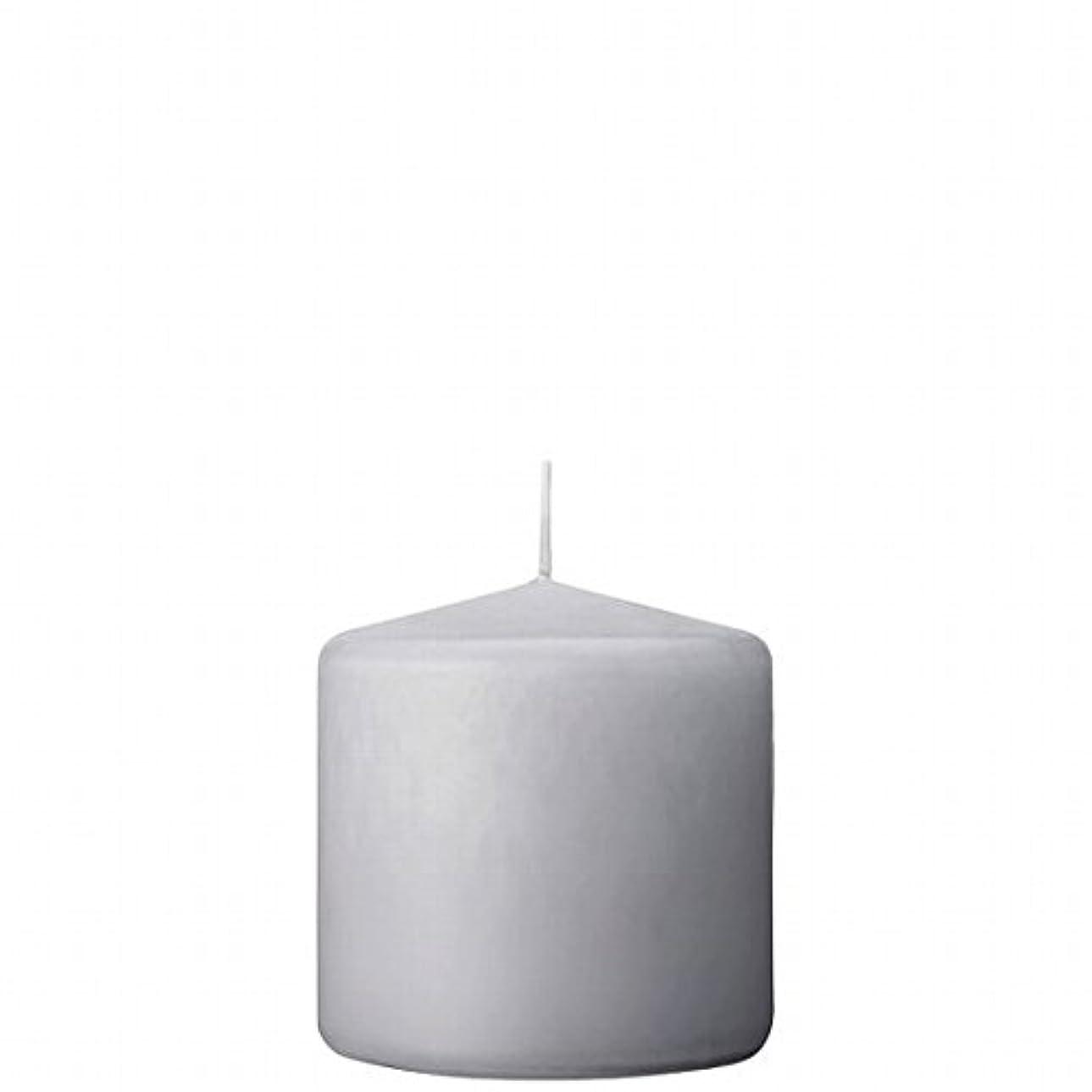 盲信編集する興奮カメヤマキャンドル(kameyama candle) 3×3ベルトップピラーキャンドル 「 ライトグレー 」
