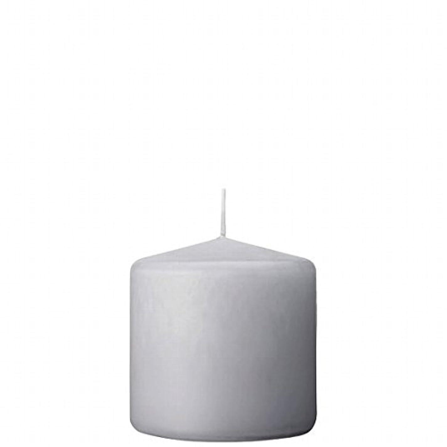 ビリーマイルド準備ができてカメヤマキャンドル(kameyama candle) 3×3ベルトップピラーキャンドル 「 ライトグレー 」