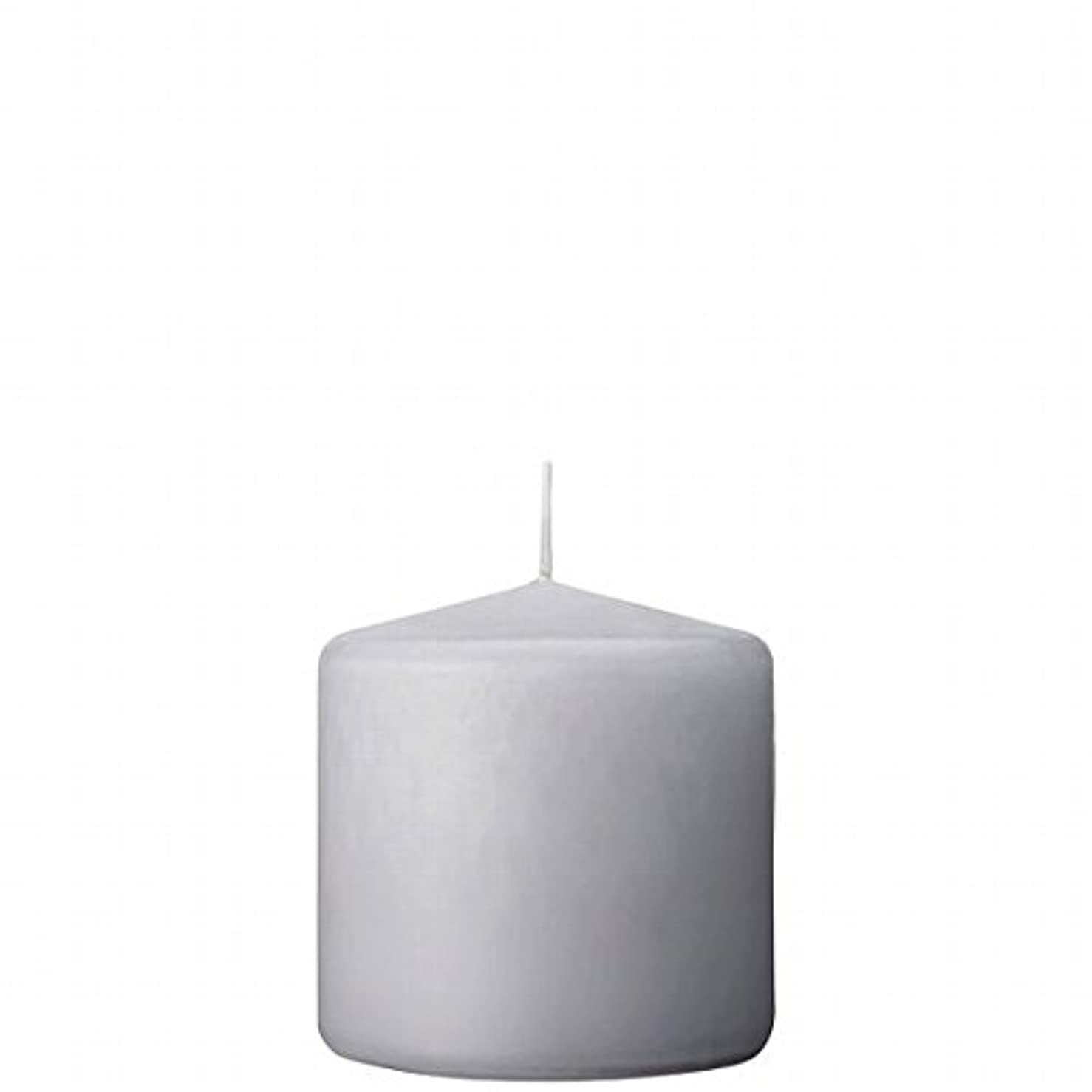 無知醜い機密カメヤマキャンドル(kameyama candle) 3×3ベルトップピラーキャンドル 「 ライトグレー 」