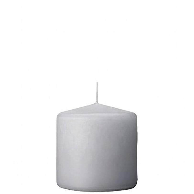 カメヤマキャンドル(kameyama candle) 3×3ベルトップピラーキャンドル 「 ライトグレー 」