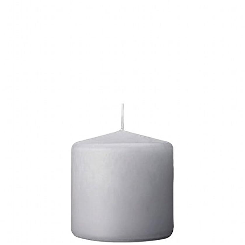 庭園なに猛烈なカメヤマキャンドル(kameyama candle) 3×3ベルトップピラーキャンドル 「 ライトグレー 」