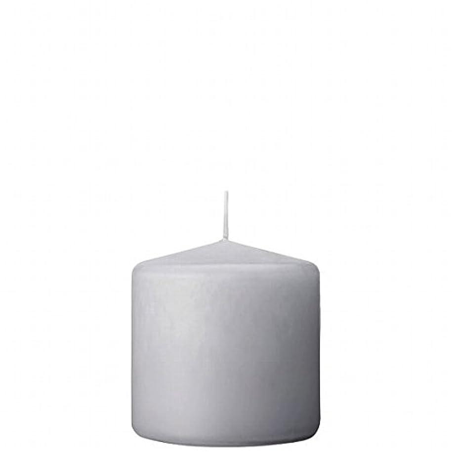 リクルート制裁加入カメヤマキャンドル(kameyama candle) 3×3ベルトップピラーキャンドル 「 ライトグレー 」
