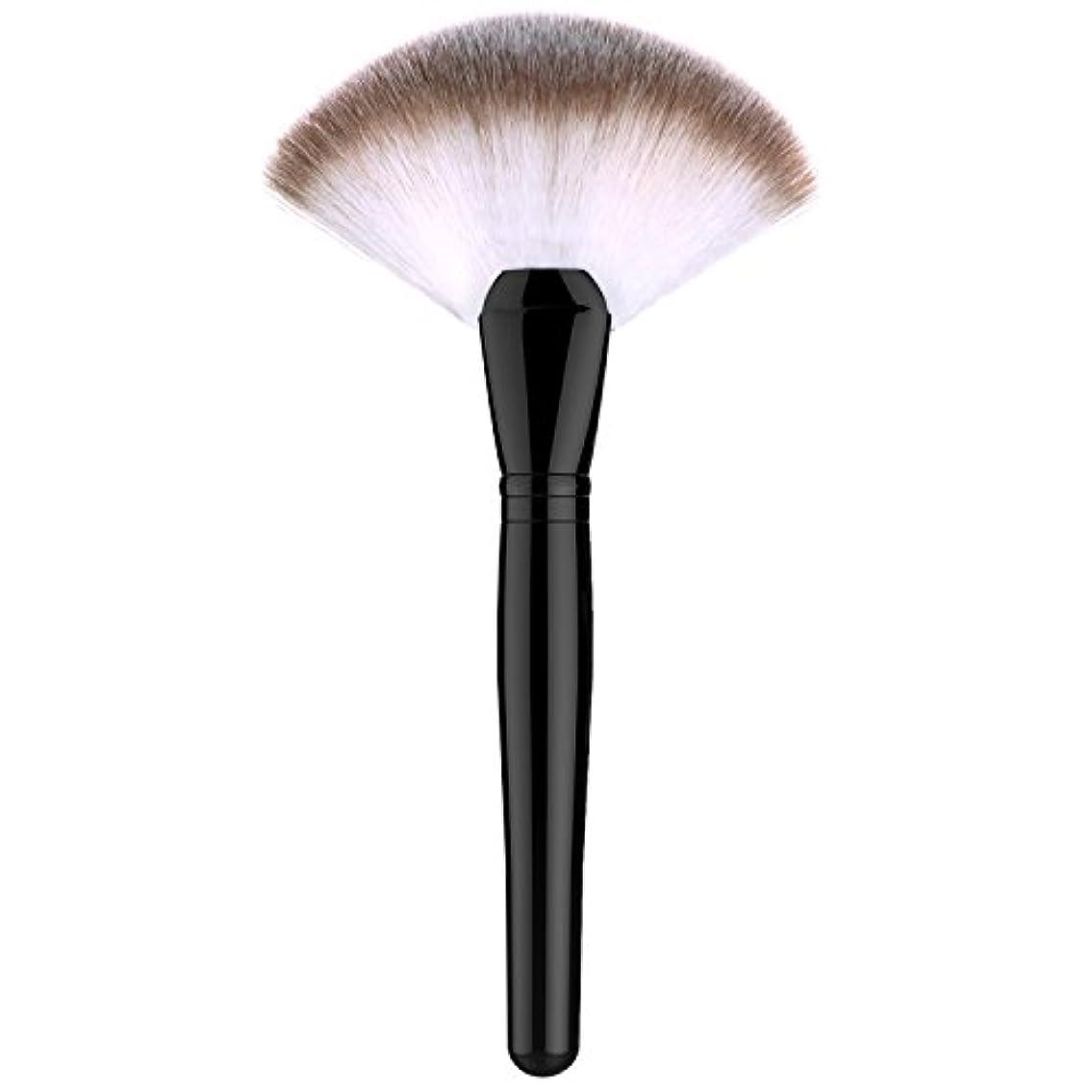 ファンデーションブラシ - Luxspire 扇形 メイクブラシセット 化粧筆 コスメブラシ 繊細な人工毛 毛質やわらかい 肌に優しい