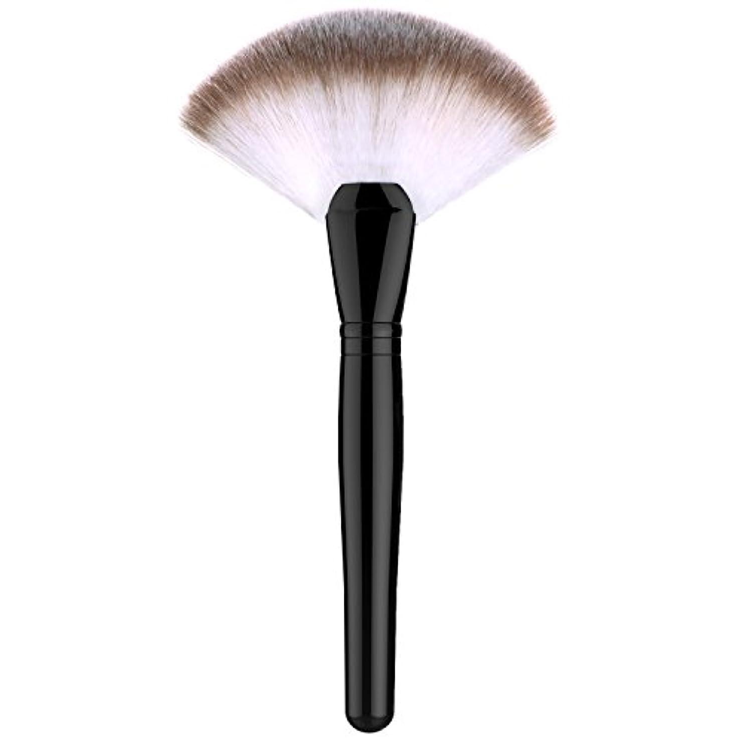 鏡パドル義務的ファンデーションブラシ - Luxspire 扇形 メイクブラシセット 化粧筆 コスメブラシ 繊細な人工毛 毛質やわらかい 肌に優しい