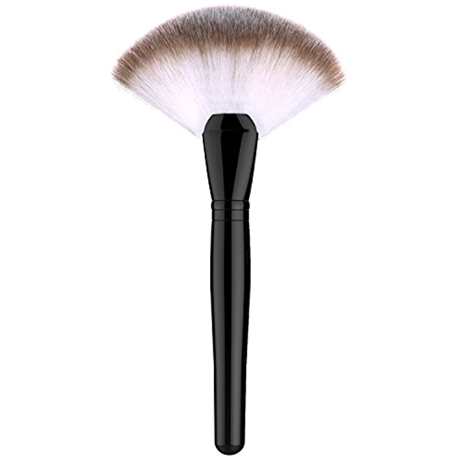 拒絶所持普通のファンデーションブラシ - Luxspire 扇形 メイクブラシセット 化粧筆 コスメブラシ 繊細な人工毛 毛質やわらかい 肌に優しい